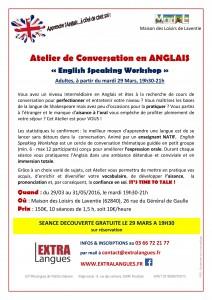 Flyer Conversation Anglais Adultes